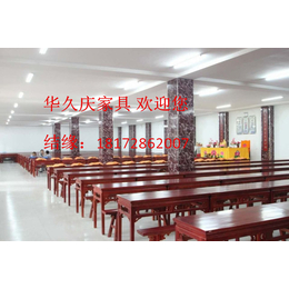 寺院大斋堂桌凳禅寺五观堂实木桌凳过堂桌凳