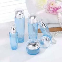 高端水滴盖化妆品玻璃瓶包装100ml乳液瓶膏霜瓶分装瓶包材