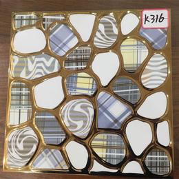 K316鹅卵石 琥珀釉K金砖