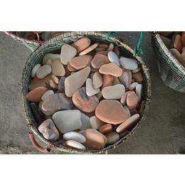 南召鹅卵石子 黑石子厂家直销  对园林能起到局部点缀作用