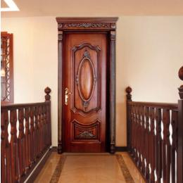 雕花套装门 实木门卧室门 室内实木门欧式雕花