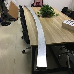 定制拉弯铝方管 弧形凹槽铝方通 弧形铝方管