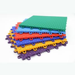 PP悬浮拼接地板幼儿园户外运动防滑地板 防水防潮锁扣地板定制