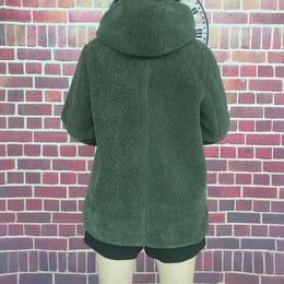 冬款连帽羊毛羊绒羊剪绒毛毛衣外套大衣女