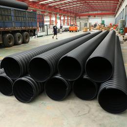 泗洪波纹排污管圣大管业供应钢带增强HDPE聚乙烯螺旋波纹管