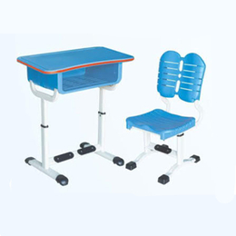 HL-A1907塑料升降课桌椅