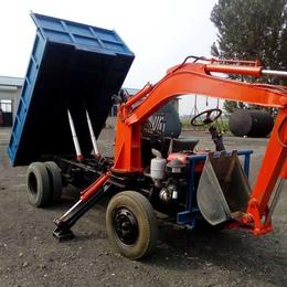 新疆新出农用自卸车加装挖掘机图片  质量保证