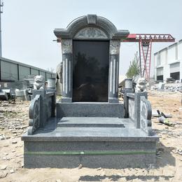 厂家供应花岗岩芝麻白墓碑大型土葬家族墓碑