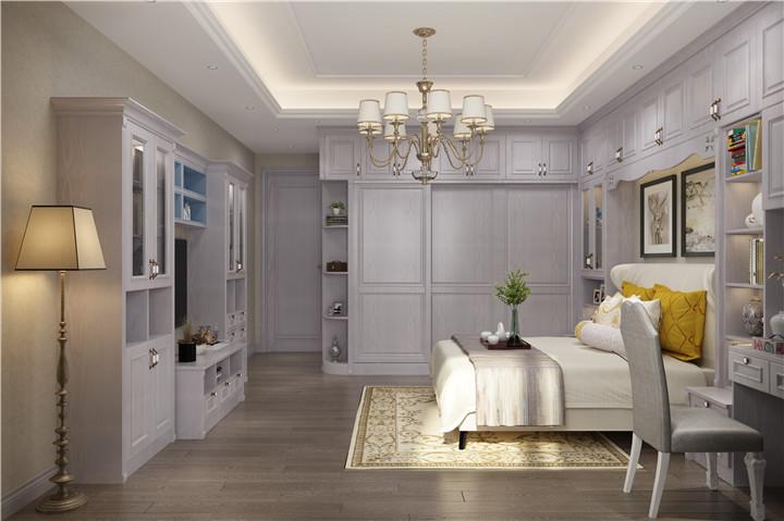 白色简约式衣柜家具安装