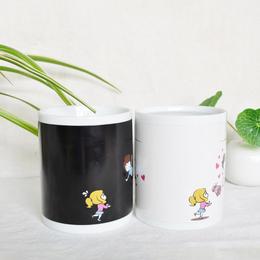 神奇陶瓷变色杯供应商神奇变色陶瓷杯报价马克创意变色杯厂家批发