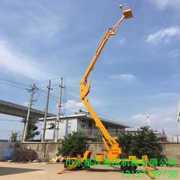 阿克蘇液壓升降機報價 18米曲臂升降機18米折臂升降平臺供應