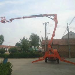 興平市電動升降作業平臺 18米曲臂升降機 全自行升降臺報價
