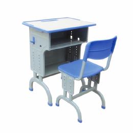 学生双层弯脚课桌椅 单人课桌批发 ABS课桌厂家直销