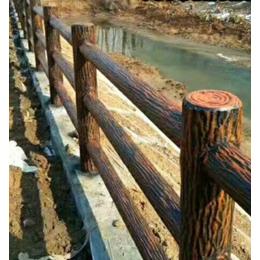 工厂定制水泥仿木护栏定制景区栏杆
