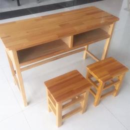 江西厂家****实木双人课桌凳热卖批发