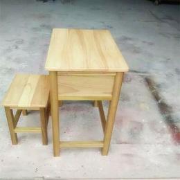 江西厂家****实木双人课桌椅学生实木课桌椅批发