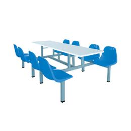 6人连体餐桌椅 员工学校学生餐厅吃饭桌椅缩略图