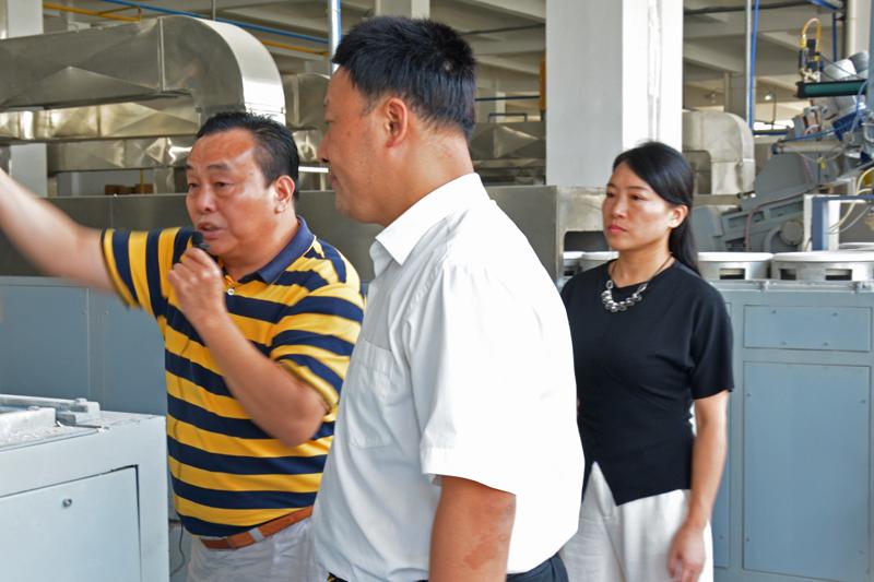 江西省商务厅党组书记、厅长王水平一行莅临我司指导工作
