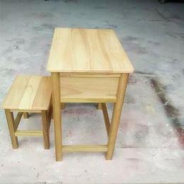 学生实木课桌椅单人课桌椅厂家