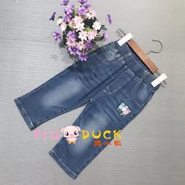 可爱孩子夏装童裤 一线专柜品牌童装折扣批发 童装尾货库存走份