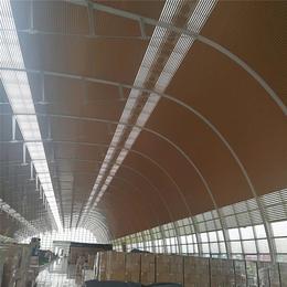 马来西亚 林氏木业厂房吊顶 木纹铝条扣 G型铝扣板