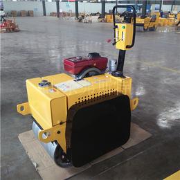 弗斯特手扶式双钢轮压路机机身小巧适合沟槽回填的振动碾地机