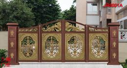 铝艺无轨悬浮折叠门+聊城铝艺别墅庭院折叠门-久瑞门业