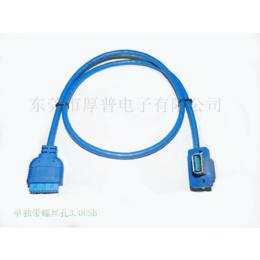 源头工厂直销双母螺丝固定孔20PIN USB3前置面板挡板线