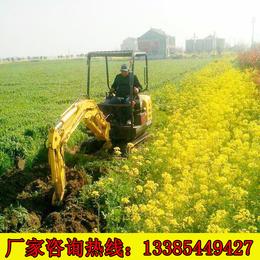 蔬菜种植培土挖土机 济南山鼎小型挖土机