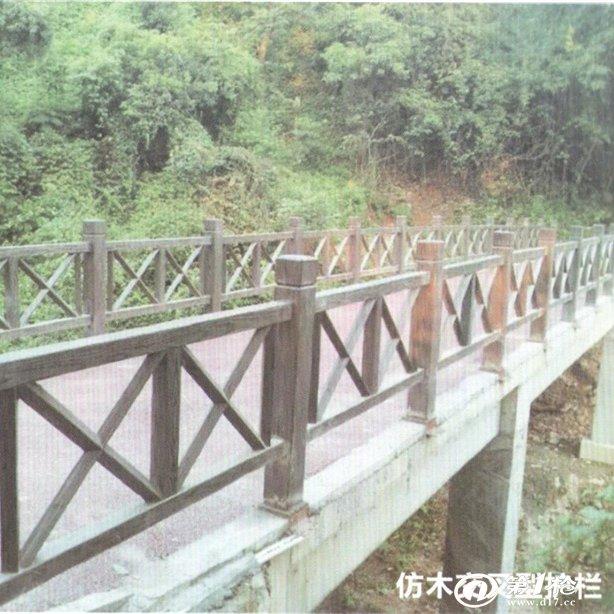 仿木交叉型护栏