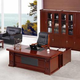 深色实木实木电脑办公桌