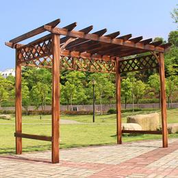 凉亭户外庭院简易小室外葡萄架防腐木桌椅木屋花园实木亭子廊架桌缩略图