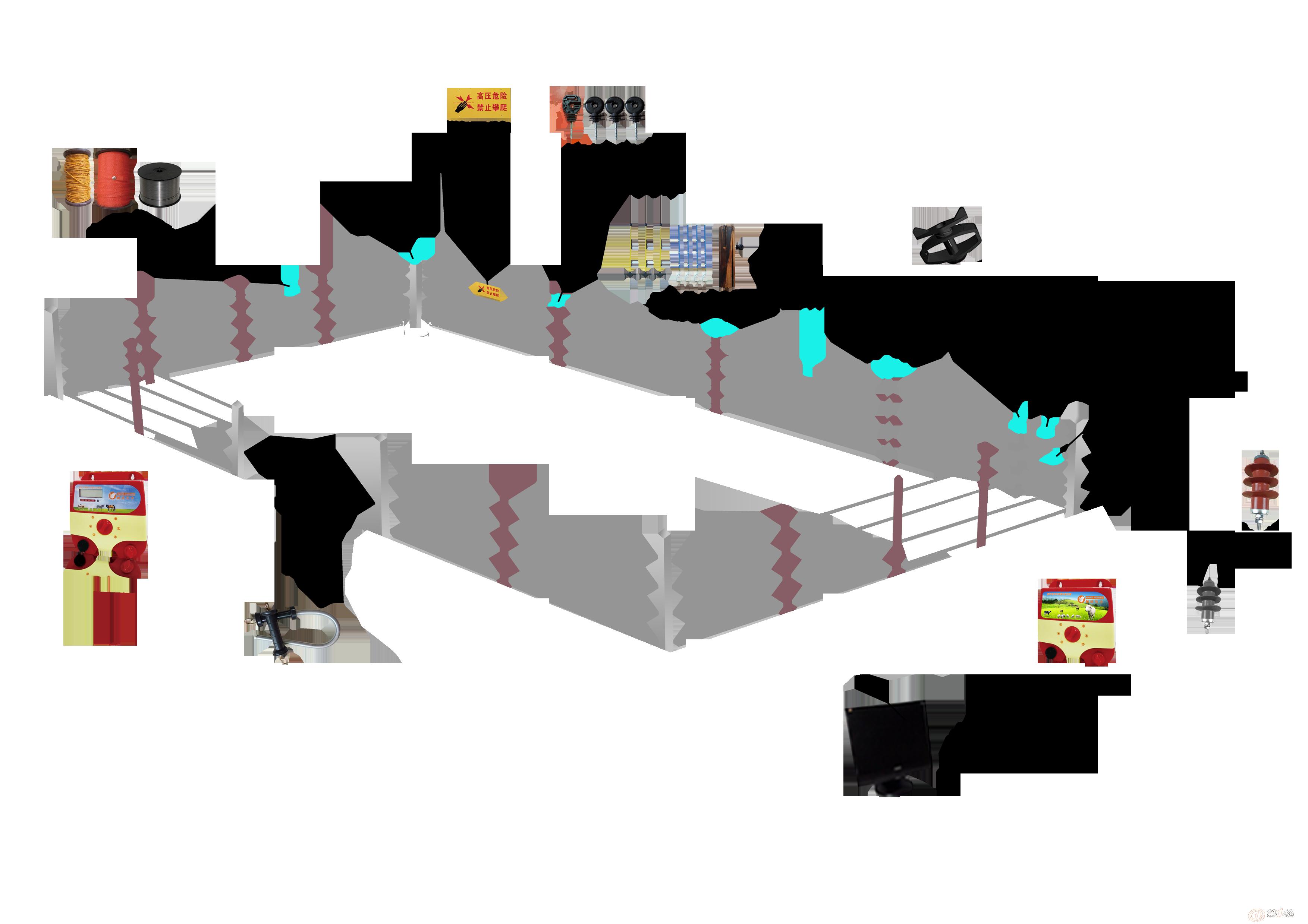畜牧电子脉冲围栏 节省管理者体力及时间解放传统放牧
