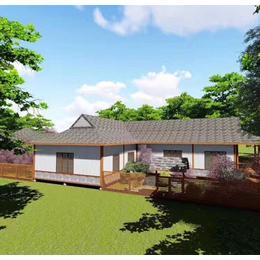 防腐木中式别墅 户外木屋