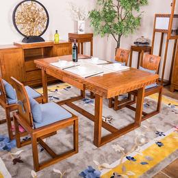 展博餐桌新中式白蜡木纯实木工厂直销