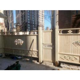 户外碳化防腐木栅栏别墅<em>庭院</em>围栏