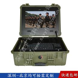 17寸塑料工业便携机机箱军工加固电脑笔记本视频采集工控一体