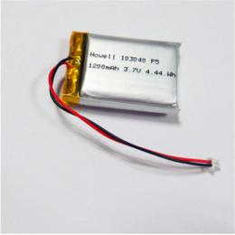 鸿伟能源103040聚合物锂电池1200mAh运动相机锂电池缩略图