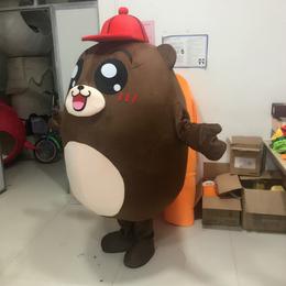 毛绒人偶服装公仔娃娃赣州科尼卡通人偶动作海苔熊K008