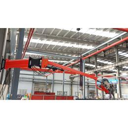 车架制造焊接吸尘臂环保型-焊接吸尘臂-百润机械(图)