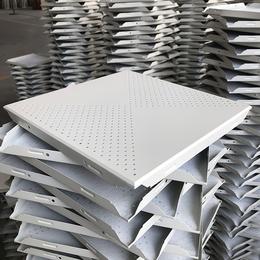 300X300铝扣板 30X30铝扣板 对角冲孔铝扣板