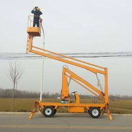 曲臂升降机 多角度高空维修升降机报价 臂架式高空作业车价格