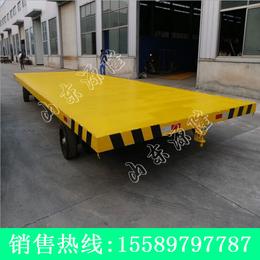 源隆定做10吨双向平板拖车 全挂式平板拖车 厂区支腿平板车