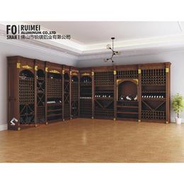 信誉保证全铝家具铝型材批发铝合金书柜门板成品