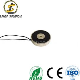 H6012 圆形吸盘式电磁铁吸力120N小型电磁铁