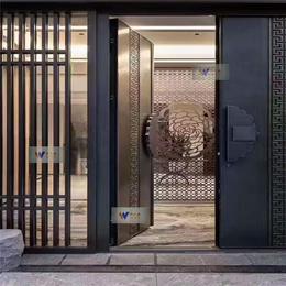 别墅定制古铜色不锈钢屏风通花客厅不锈钢隔断屏风