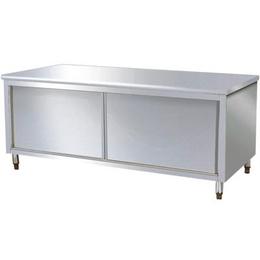 不锈钢商用厨房储物双通道操作台