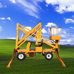 14米曲臂升降机 曲臂伸缩臂升降平台 星汉电动举升机厂家