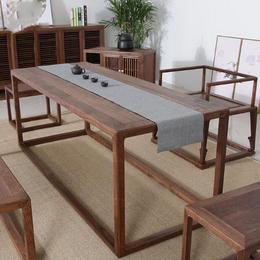 成都國學堂中式畫案定做 成都孔子學院家具定制 成都中式家具
