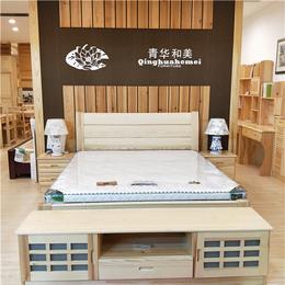 江西青华家具 松木环保床 1.8双人床1.5现代简约床定制缩略图